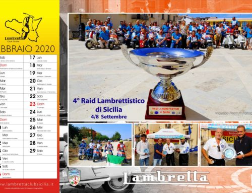 Calendario 2020 – Febbraio  in Lambretta